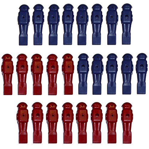26 set of Red / Blue Block Body Old Dynamo-Style Foosball Players