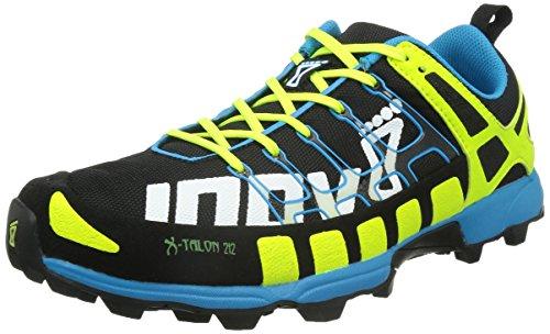 Chaussure De Course Unisexe Inov-8 X-talon 212 Trail Noir / Jaune / Bleu