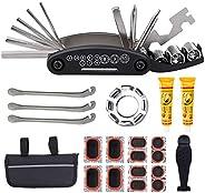 Bike Repair Tool Kit,16 in 1 Multifunction Bicycle Multifunction Repair Kit