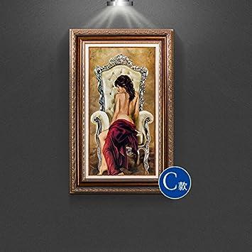 Patined Amerikanischen Eingang Dekoration Malerei Europäischen Badenixe  Malerei Wandbilder Gang Mediterrane Wohnzimmer, 50 * 80