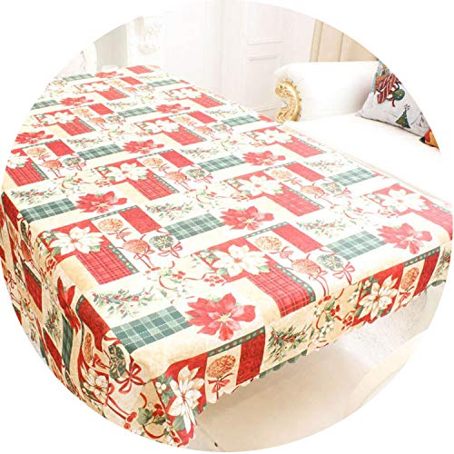 Christmas Decoration Rectangle Tablecloth Table Cover Christmas Ornament for Dining Table Dust Cover -