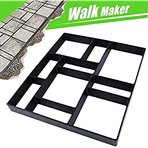 17.5″x15.5″x1.5″ CJGQ Walk Path Maker Reused Concrete Molds Paving DIY Path Garden Yard Patio Mold (10-Grid)