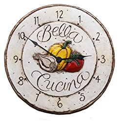 Italian Bella Cucina Kitchen Clock