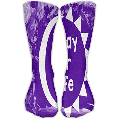 Nakgn Relay For Life Purple Cancer Classics Socks For Women Men by Nakgn