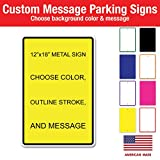 Custom Metal Sign 12''x18'' .040, Variety of Background and Text Colors to Choose from, with Rounded Corners, Personalize for Fun or for Business Needs (1)