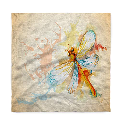 Fantasy Star Rectangle Polyester Tablecloth, Watercolor Dragonfly Tablecloths Machine Washable Table Cover Decorative Table Cloth for Kitchen Dinning Banquet Parties 54 x 109 Inch