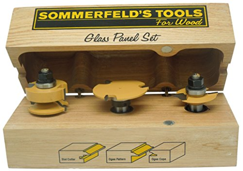 - Sommerfeld's 3 Piece Glass Panel Door Set, 1/2-Inch Shank