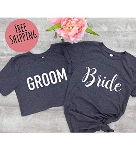 MARRIED AF T-SHIRT WEDDING BRIDE GROOM HONEYMOON GIFT LADIES AND MENS