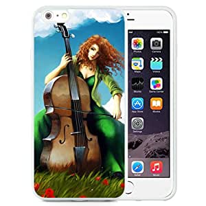 Beautiful And Unique Designed With Girl Music Alto Field (2) For iPhone 6 Plus 5.5 Inch TPU Phone Case