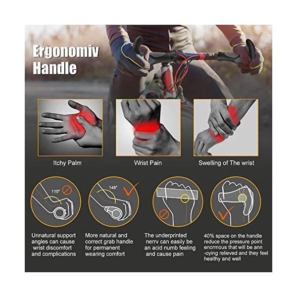 Migimi Impugnature per Manubrio Bici, Ergonomico Impugnatura Gomma Manubrio Bicicletta Antiscivolo e Impermeabile 4 spesavip