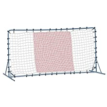 Franklin Sports Tournament Quality Steel Soccer Rebounder - 12 x 6 Foot - Silver