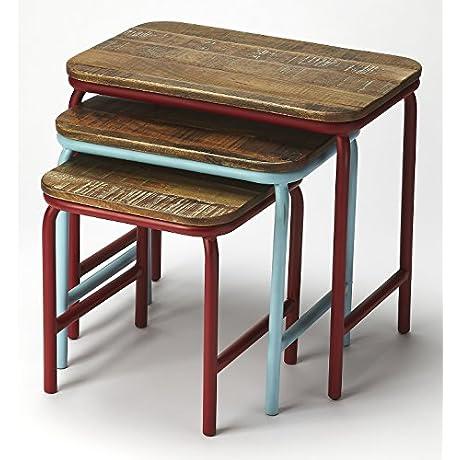 3 Pc Rectangular Wood Nesting Table Set 596372