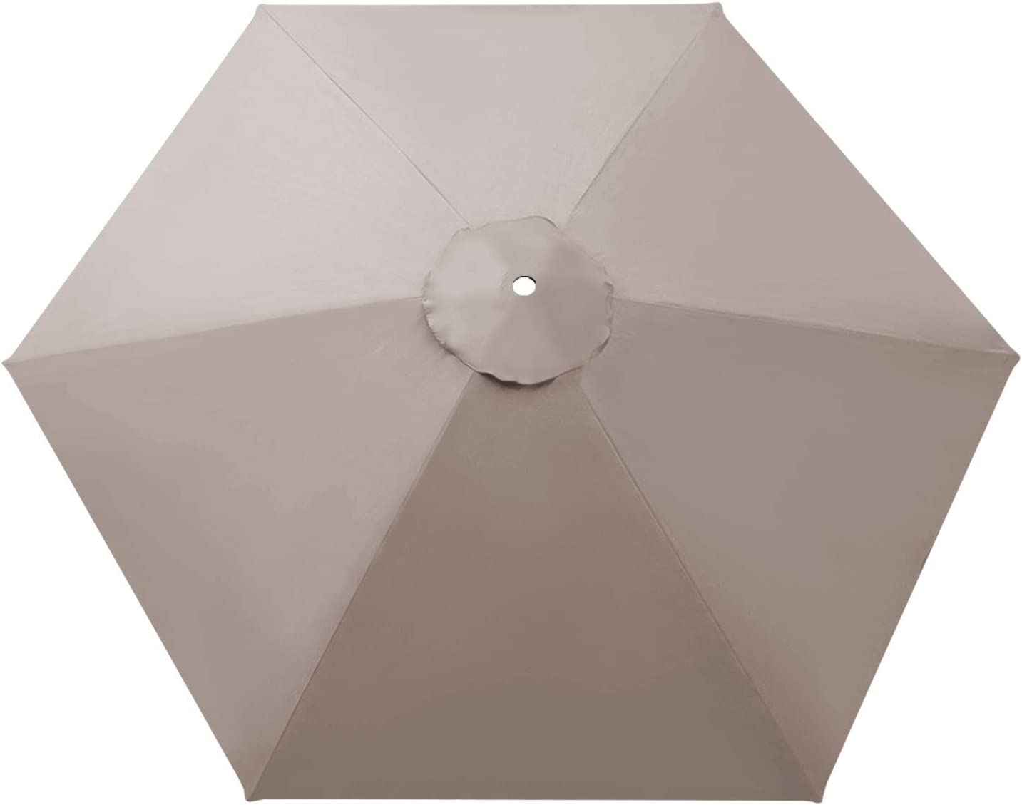 BenefitUSA Umbrella Cover Canopy 9ft 8 Rib Patio Replacement Top Outdoor-Taupe