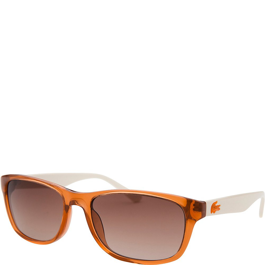 cfc1a576b4ad Lacoste Eyewear Rectangle Kids Sunglasses (Orange Translucent): Amazon.ca:  Clothing & Accessories