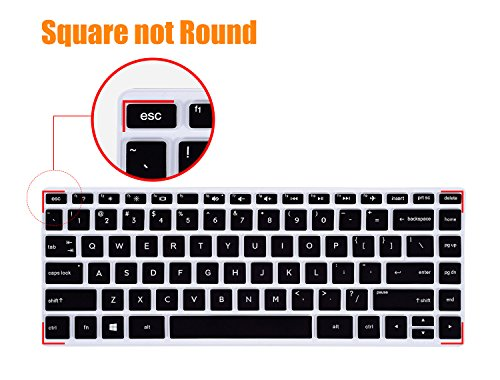 CaseBuy Laptop Keyboard Cover Compatible 2019 HP Laptop/HP Pavilion X360 14-cm Series 14 Protective Skin Laptop Accessories, Black