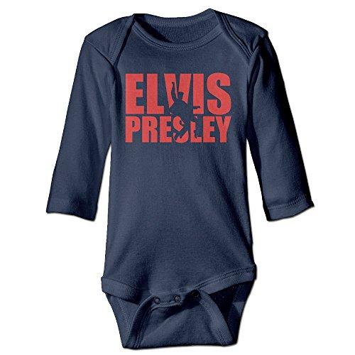 Boxer98 Boy's & Girl's Elvis Presley Long Sleeve Bodysuit -