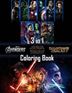Coloring Book 3 in 1: Avengers, Guardians of the Galaxy, Star Wars