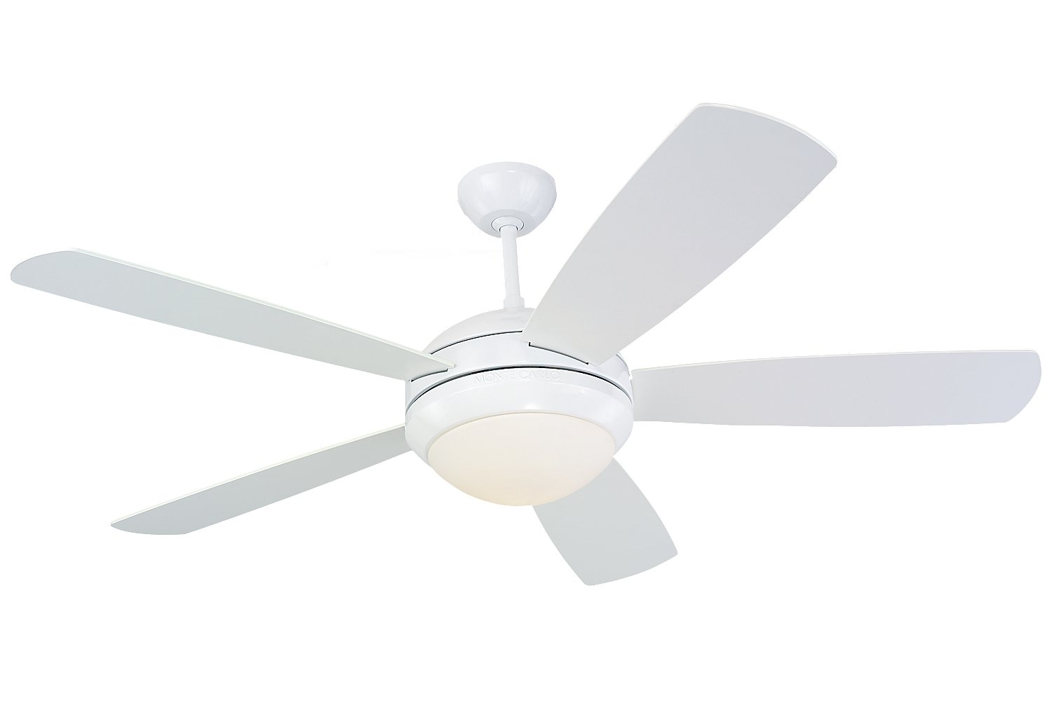 Monte carlo 5di52whd l discus 52 ceiling fan white amazon publicscrutiny Image collections