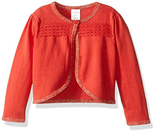 Gymboree Girls' Cute Cardigan, Sweet Papaya, 3-6