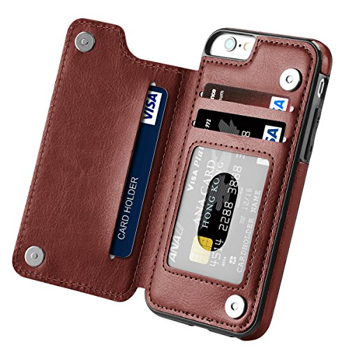 Cheap Wallet Cases iPhone 6s Plus Case, iPhone 6 Plus Case, Hoofur Slim Fit Premium..