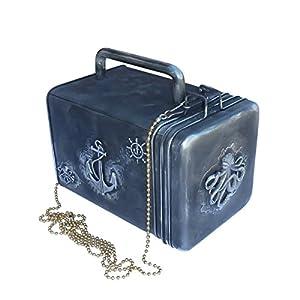 SteAMPunk travel Nautical Steampunk purse BOX handmade