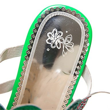 Personalizzati Rhineston Heel EU41 Materiali Comfort RTRY US9 Novità Sandali Primavera UK7 Estate Outdoor Matrimonio Club Abito Donna Casual Chunky 8 5 CN42 Scarpe 10 5 naZRnzW