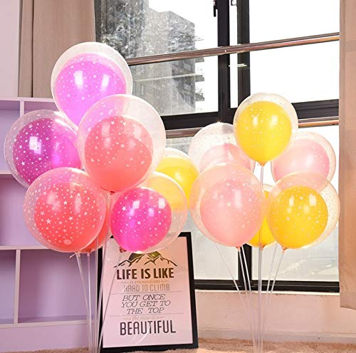 Balloon Stand Kit for Tables Nines Sun Sticks 29 Inches Height for Birthday Party and Wedding Decorations Opening and Graduation Ceremony