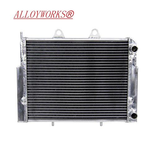 ALLOYWORKS ATV Aluminum Radiator for 2007-2014 Polaris RZR 800, Manual Transmission