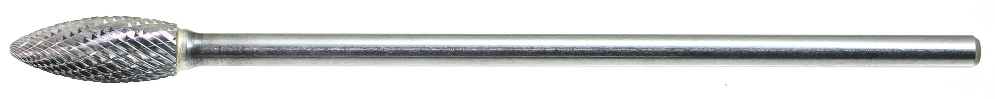 Drillco 7000HX Series Magnum Solid Carbide Extra Long Bur, Double Cut, Flame, 1/4'' Shank Diameter, 1/2'' Head Diameter, 1-1/4'' Cutting Length (Pack of 1) by Drillco