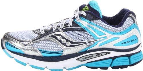 ad790764 Saucony Women's Stabil CS3 Running Shoe,White/Blue/Navy,10 M US ...