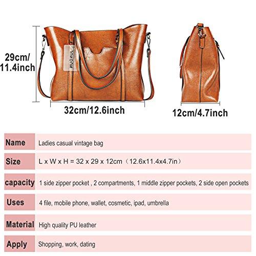 Large Bag Top Shoulder JUNDUN Bags gray Capacity Satchel Handle Tote Vintage Bag Purse Women vEqaH
