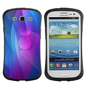 Fuerte Suave TPU GEL Caso Carcasa de Protección Funda para Samsung Galaxy S3 I9300 / Business Style Lines Purple Blue Ring Circle