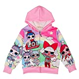 ALaMing Girls Hoodie Zip Sweatshirt LOL Children Coat Cartoon Jacket Outwear Doll Surprise