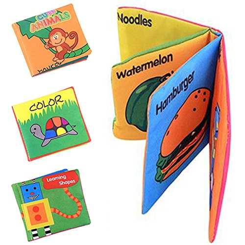 Here Fashion Squashy Soft Cloth Book Cartoon For Baby or Toddler