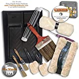 The Woolie Original and Woolie 2-Color Dual Split Roller Deluxe Multi-Techniques Sheepskin/Lambswool Faux Painting Kit for