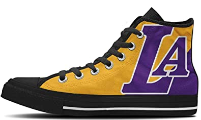 b26e222c3a3d LA Lakers Shoes -High Tops Custom Canvas Sneakers
