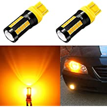Alla Lighting 2800lm 7440 7443 LED Turn Signal Light Bulbs Xtreme Super Bright T20 7440 7443 LED Bulbs High Power 5730 33-SMD LED 7443 Bulb 7441 7444 W21W WY21W LED Signal Blinker Light, Orange Yellow
