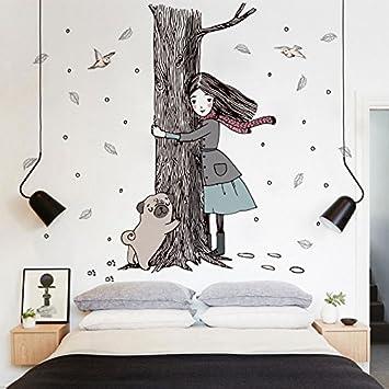 Wall Sticker Kunst Malerei Ideen Schlafzimmer Gemütliches Wohnzimmer Wände  Sind Mit 10 Selbst Gestaltet   Klebstoff