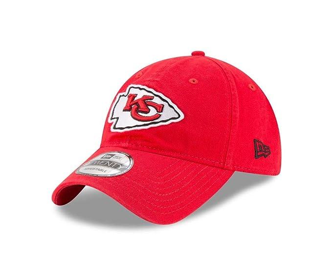 6c610cc8c Amazon.com: New Era Men's Kansas City Chiefs 9TWENTY Core Red Hat ...