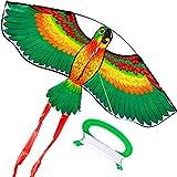 #7: HENGDA KITE- Kites For Kids Children Lovely Cartoon Green Parrot Kites With Flying Line