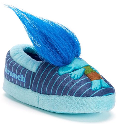 Price comparison product image Dreamworks Boy's Trolls Branch Slippers (9-10 M US Toddler, Blue)