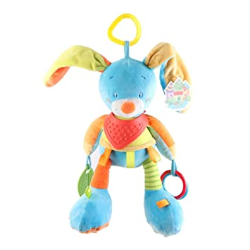 Newborn Baby Infant Animal Soft Rattles Teether Hanging Bell Plush Baby Toys QL