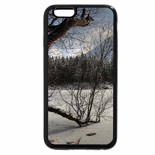 iPhone 6S / iPhone 6 Case (Black) footprints on a lake in superb winter scene