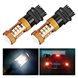 Melcan 1200LM Extremely Bright Samsung Chipsets 3157 3156 T25 LED Bulbs for Brake Tail Light ,White