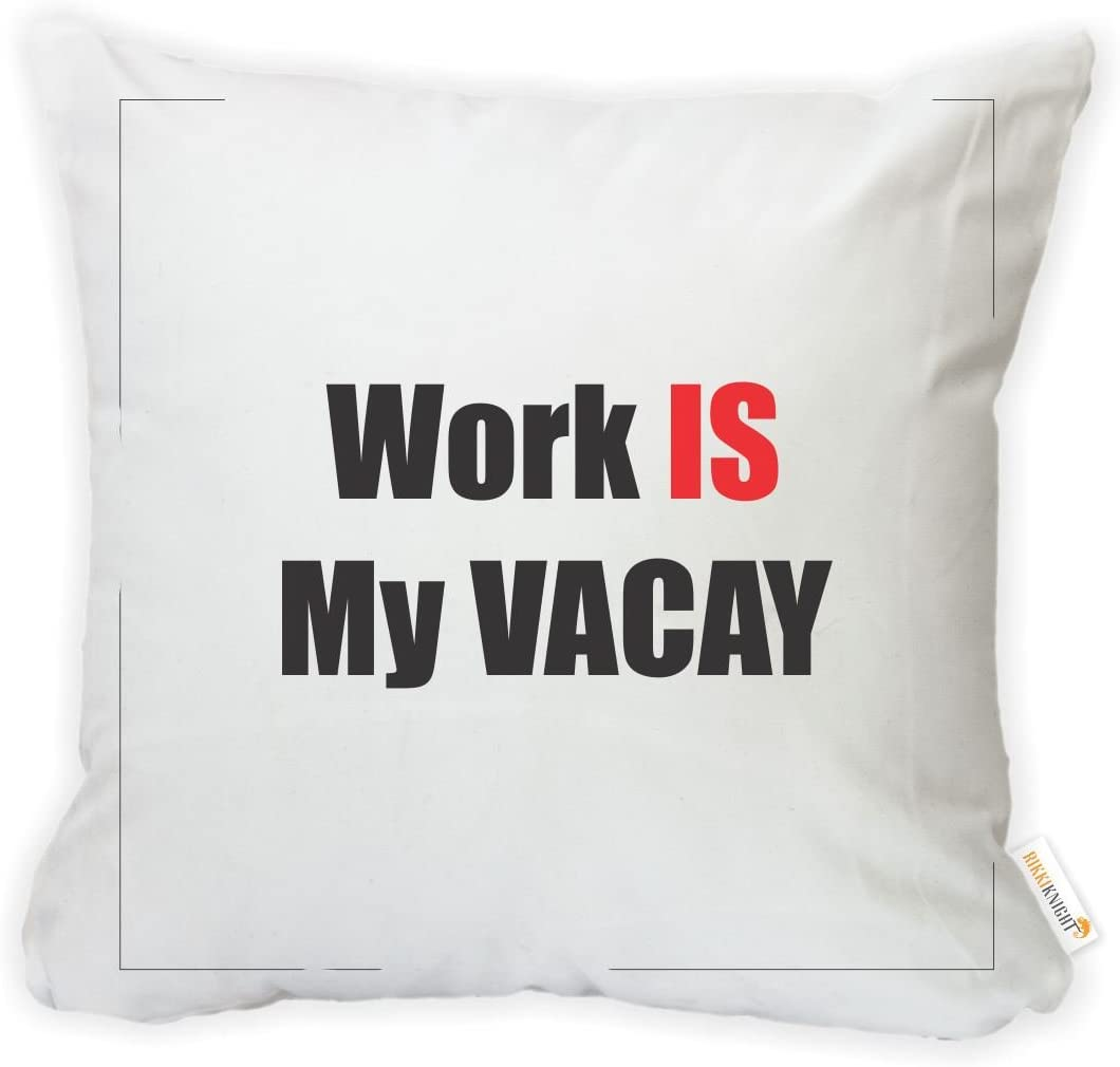 Insert Included Printed in The USA Rikki Knight 16 x 16 inch Rikki KnightWork is My Vacay Microfiber Throw Pillow Cushion Square with Hidden Zipper