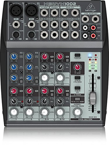 Behringer XENYX 1002 10 Channel Audio Mixer (Audio Recording Mixer)
