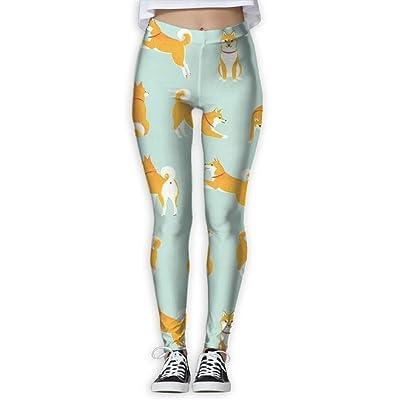 Happy Corgi Womens Fashion Power Flex Yoga Pants Flexible Workout Capris Leggings