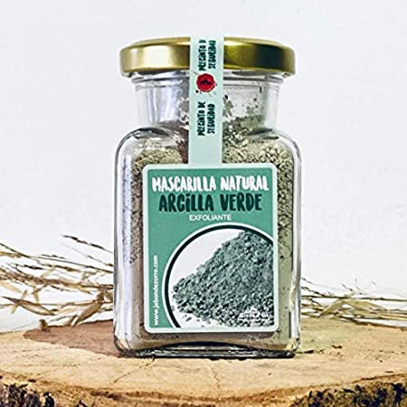 Jabón Zorro D'Avi | Mascarilla de Arcilla Verde en Polvo | 150 ml | Mascarilla Facial para Pieles Mixtas y Grasas | Limpia y Purifica | Ecológica y Vegana | Fabricado en España