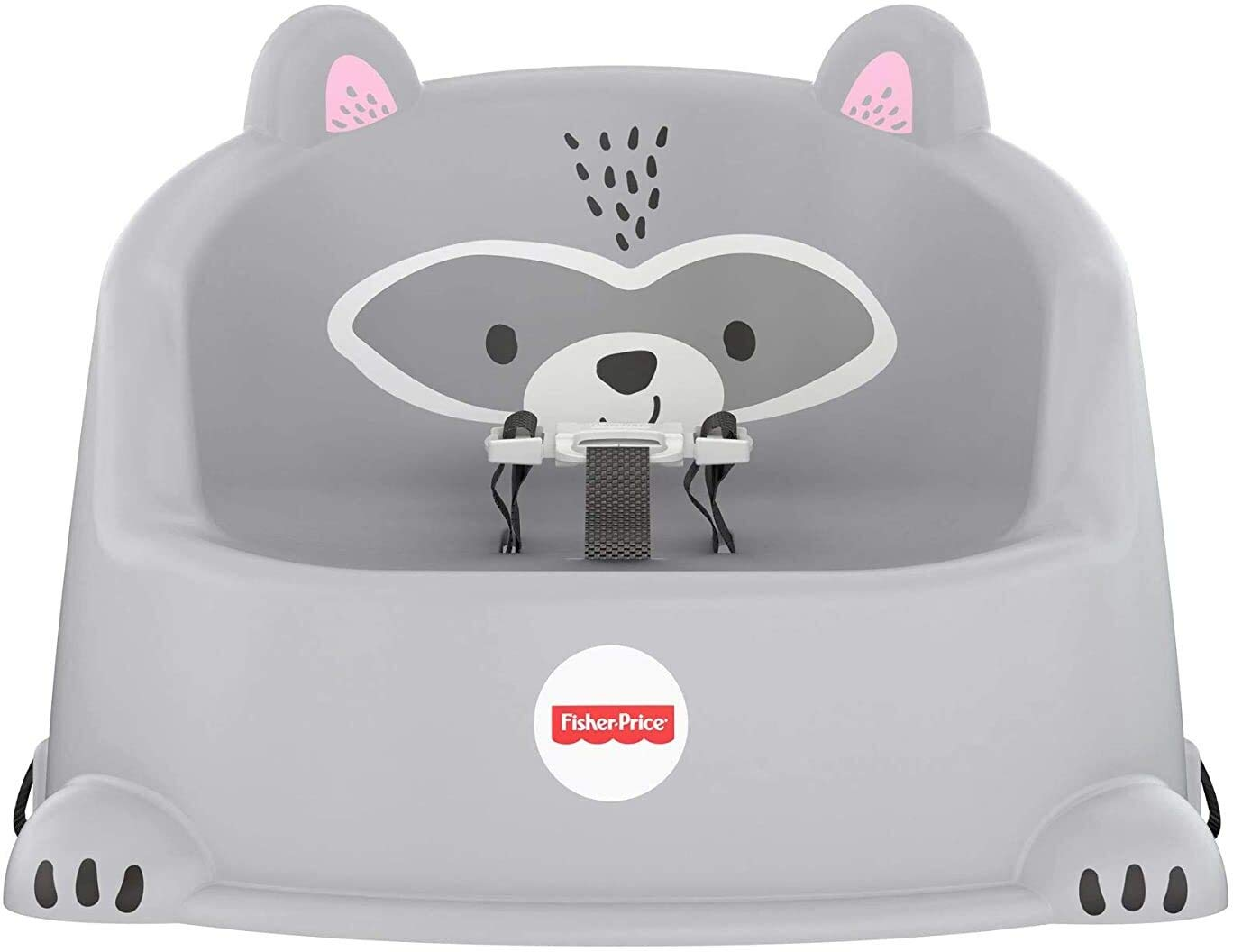 Fisher-Price Hungry Raccoon Booster Seat, Portable Toddler Chair