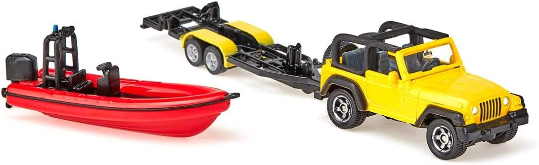 Jeep With Boat Siku Free Shipping! Toy Vehicle
